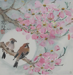 Spring Oriental Brush Painting Session