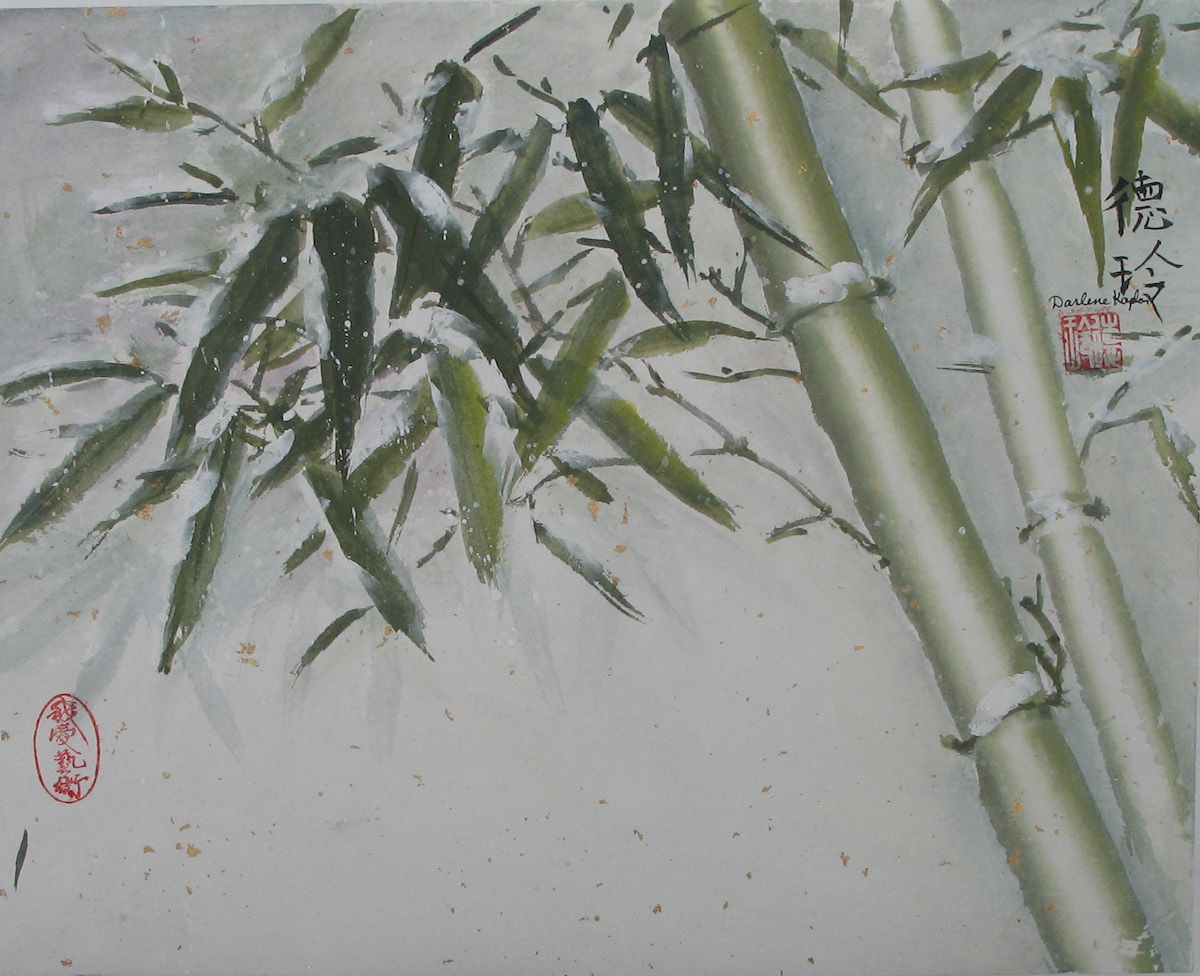 Winter Session Oriental brush Painting